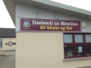 Gaelscoil banner Digitally printed with hemmed edges and zinced eyelets