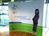 Curved Pop Up Display for Local Enterprise Office