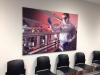 Large format digital print on expanded pvc panel. Mounted on wall with snap-on studs
