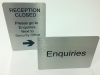 Free standing, counter top information signs