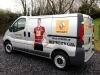 Westmeath GAA support vans branded digitally printed images, logos and lettering