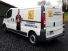 Full colour images and self-adhesive lettering applied to team support vans