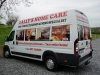 Full colour images and self-adhesive lettering applied to van