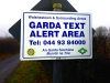 Text Alert sign with reflective face on aluminium composite sign panel