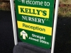 Kelly's Nursery pavement sign
