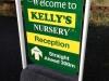 Kelly's Nursery pavement sign