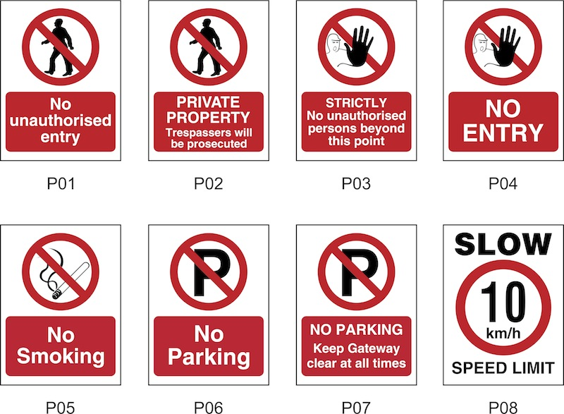FARM SAFETY SIGNS P