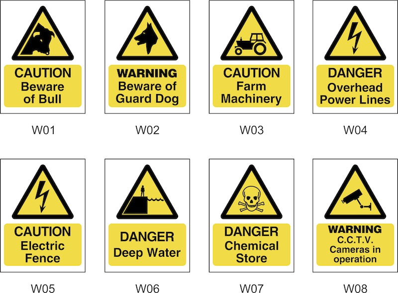 FARM SAFETY SIGNS W