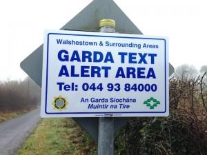garda text alert sign