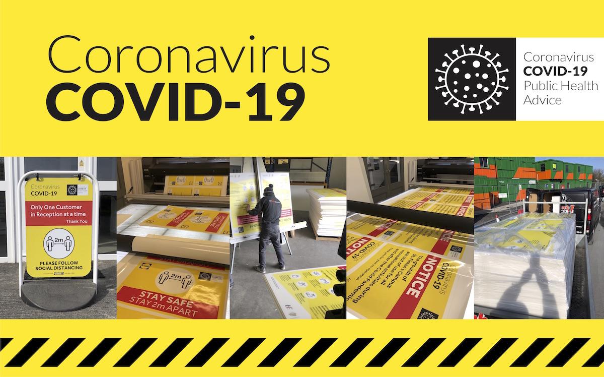 COVID-19 Signage, Floor Stickers & Stencils
